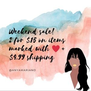 2 for $15 promo + discounted shipping❤️